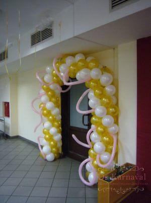 Украшение на свадьбу аркой из шаров дешево
