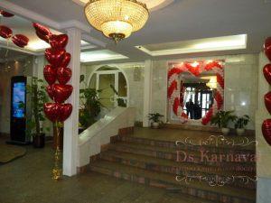 Декор свадьбы аркой из шаров оригинально