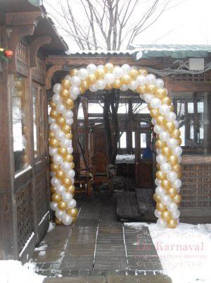 Декор свадеб аркой из шаров оригинально
