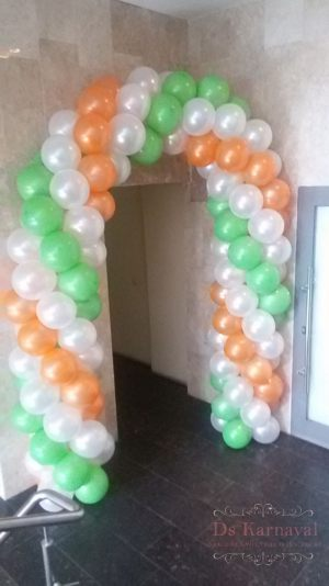 Декор свадьбы аркой из шаров фото