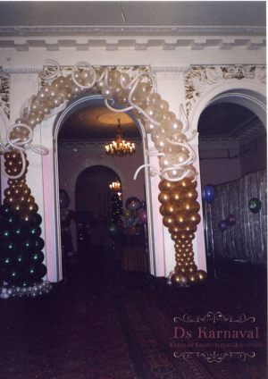 Оформление на свадьбу аркой из шаров недорого в Москве