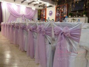 банты на стулья для свадеб в Москве