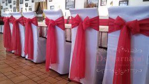 банты на стулья для свадеб недорого