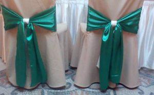 банты для стульев для свадьбы красиво