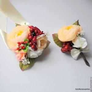 бутоньерка из цветов на свадьбу цены