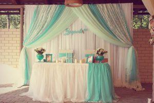 Украшение на свадьбу в цвете аквамарин цены