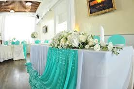 Украшение свадьбы в цвете аквамарин цены
