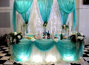 Украшение свадеб в цвете аквамарин в Москве