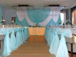 Оформление свадьбы в цвете аквамарин фото