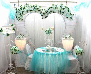 Оформление свадеб в цвете аквамарин цены