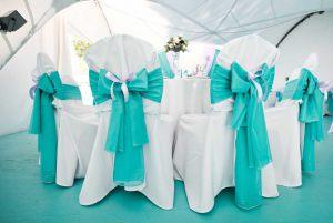Декор свадьбы в цвете аквамарин дешево