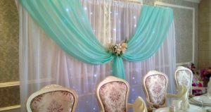 Декор на свадьбу в цвете аквамарин фото