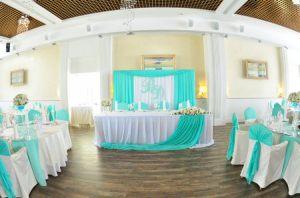 Оформление свадеб в цвете аквамарин оригинально