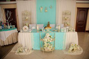 Украшение на свадьбу в цвете аквамарин фото
