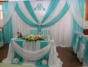 Украшение свадьбы в цвете аквамарин фото и цены