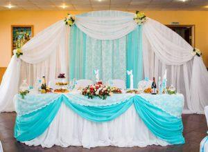 Украшение на свадьбу в цвете аквамарин недорого