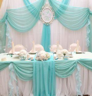 Декор на свадьбу в цвете аквамарин фото и цены