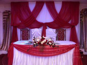 Украшение свадьбы в алом цвете недорого цены
