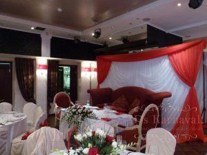 Украшение свадеб в алом цвете фото