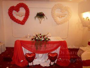Украшение свадеб в алом цвете дешево