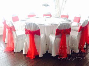 Украшение свадьбы в алом цвете недорого