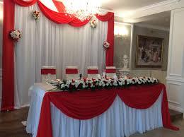 Оформление на свадьбу в алом цвете цены