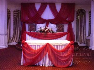 Декор свадеб в алом цвете красиво