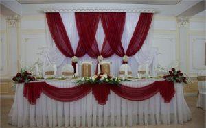 Декор свадеб в алом цвете цены