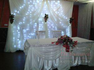 Декор на свадьбу в белом цвете красиво