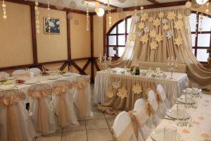 Украшение свадеб в бежевом цвете недорого в Москве