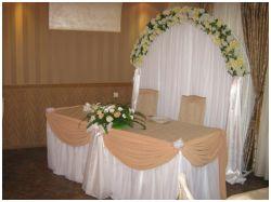 Оформление на свадьбу в бежевом цвете красиво