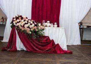Украшение на свадьбу в бордовом цвете фото и цены