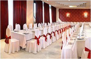 Украшение свадьбы в бордовом цвете недорого в Москве
