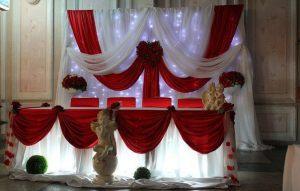 Оформление на свадьбу в бордовом цвете фото