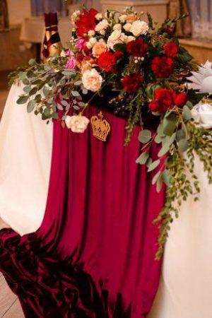 Украшение на свадьбу в бордовом цвете недорого цены