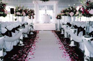 Украшение на свадьбу в черном цвете недорого