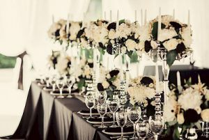 Оформление на свадьбу в черном цвете дешево