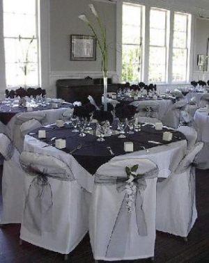 Украшение свадьбы в черном цвете оригинально