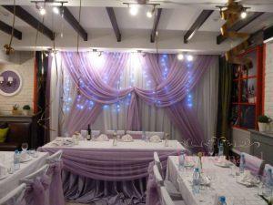 Украшение свадеб в фиолетовом цвете цены