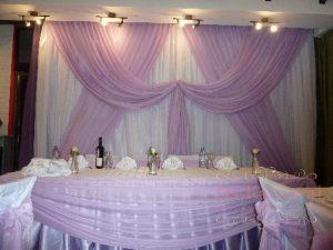Оформление свадьбы в фиолетовом цвете недорого