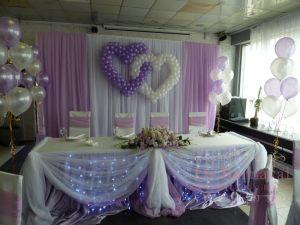 Оформление на свадьбу в фиолетовом цвете оригинально