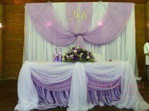 Оформление свадеб в фиолетовом цвете в Москве