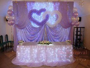 Украшение на свадьбу в фиолетовом цвете красиво