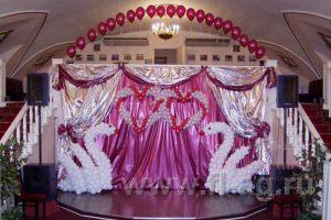 Украшение свадьбы в фиолетовом цвете цены