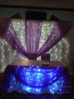 Украшение свадьбы в фиолетовом цвете в Москве