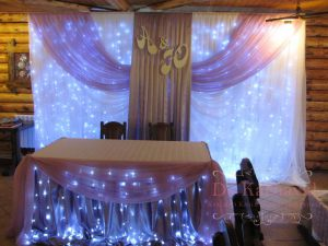 Украшение на свадьбу в фиолетовом цвете дешево