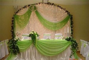 Оформление свадьбы в фисташковом цвете в Москве
