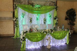 Украшение на свадьбу в фисташковом цвете в Москве