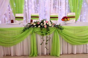 Декор на свадьбу в фисташковом цвете дешево
