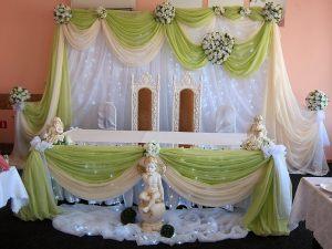 Украшение свадеб в фисташковом цвете недорого